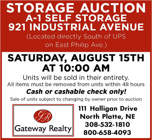 Storage Auction August 15th